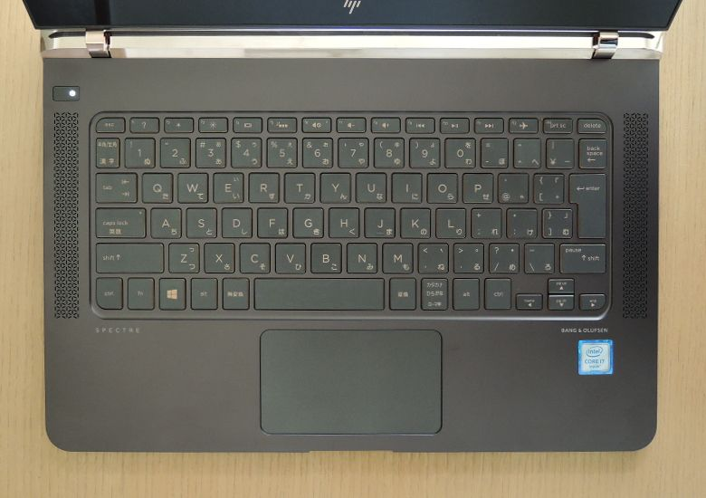 HP Spectre 13 キーボード