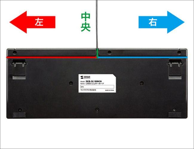 サンワサプライ SKB-SL18BKN コード出し