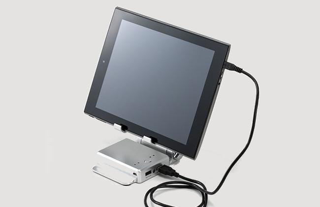テックウインド モバイルUSBチャージスタンド タブレット接続