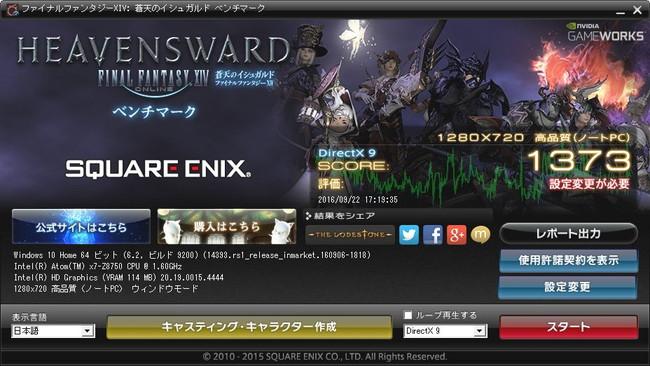 GPD Win(かのあゆレビュー)FFベンチ