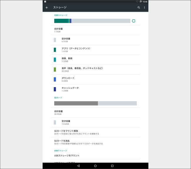 Cyanogenmod 9 ストレージ状況