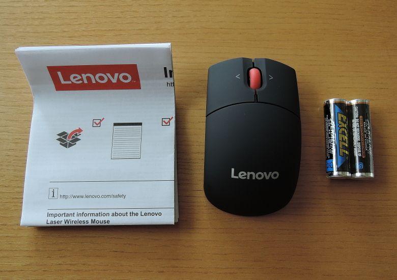 Lenovo ワイヤレスレーザーマウス 同梱物