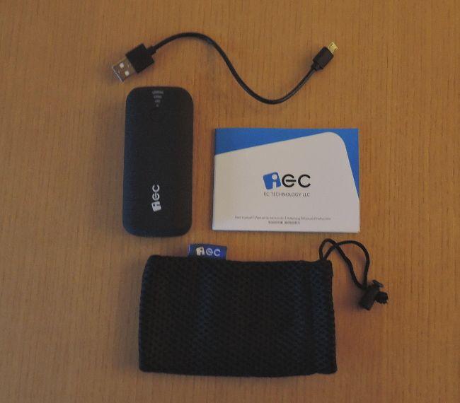 EC Technology 5200mAh モバイルバッテリー 同梱物