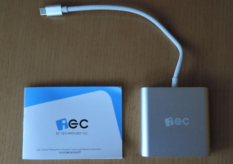 EC Technology USB Type-Cハブ 同梱物