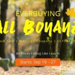 セール情報 - Everbuyingが「FALL BONANZA」セールを開催中!いろいろと面白いよ!