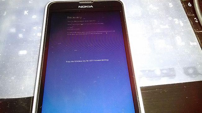 WindowsPhone ブルースクリーン