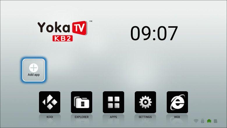 YOKA KB2 メニュー画面