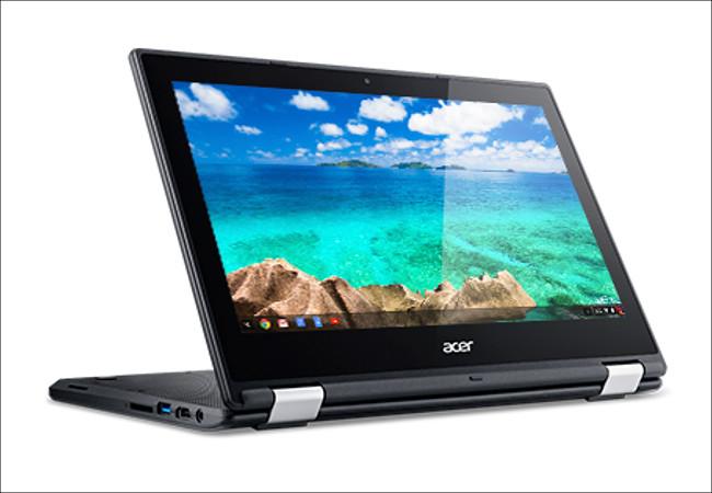 Acer Chromebook R 11 C738T スタンドモード