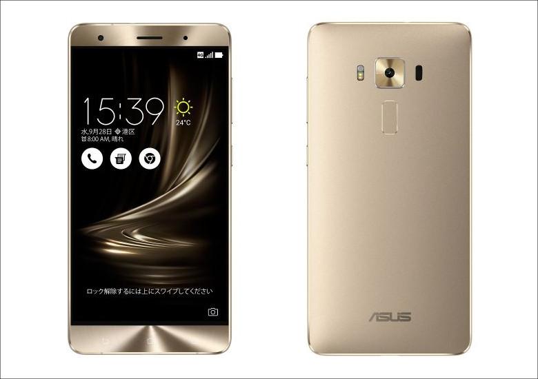 ASUS ZenFone 3 Deluxe 5.7インチ ゴールド