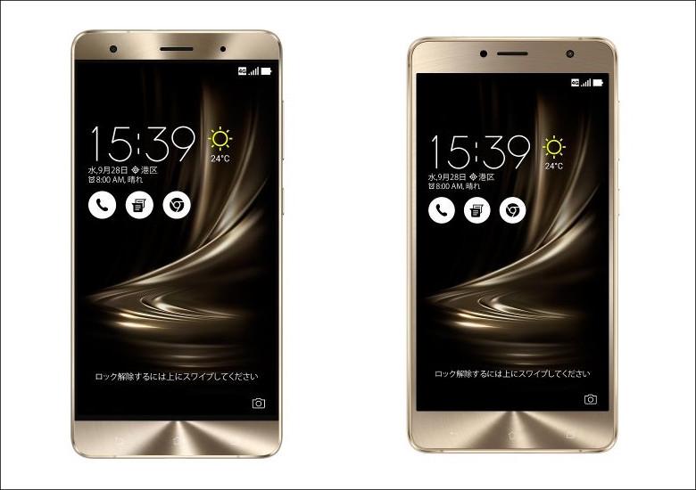 ASUS ZenFone 3 Deluxe 5.7インチ 相違点