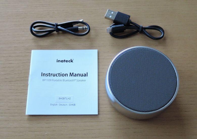 inateck BluetoothスピーカーBP1109 同梱物
