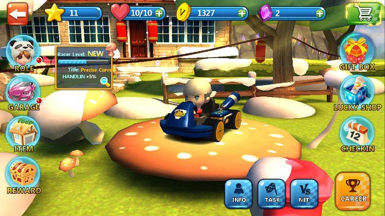 Racing League 各種選択画面