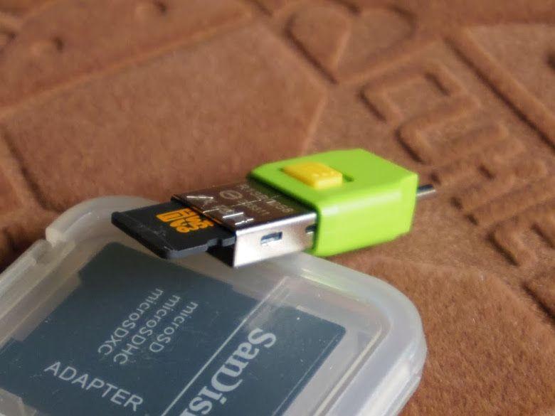 USBのSDカードリーダー