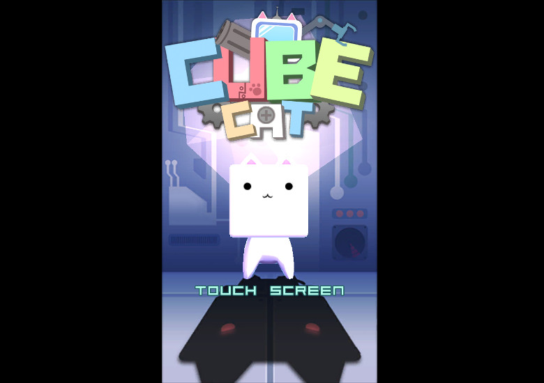 Cube Cat スタート画面
