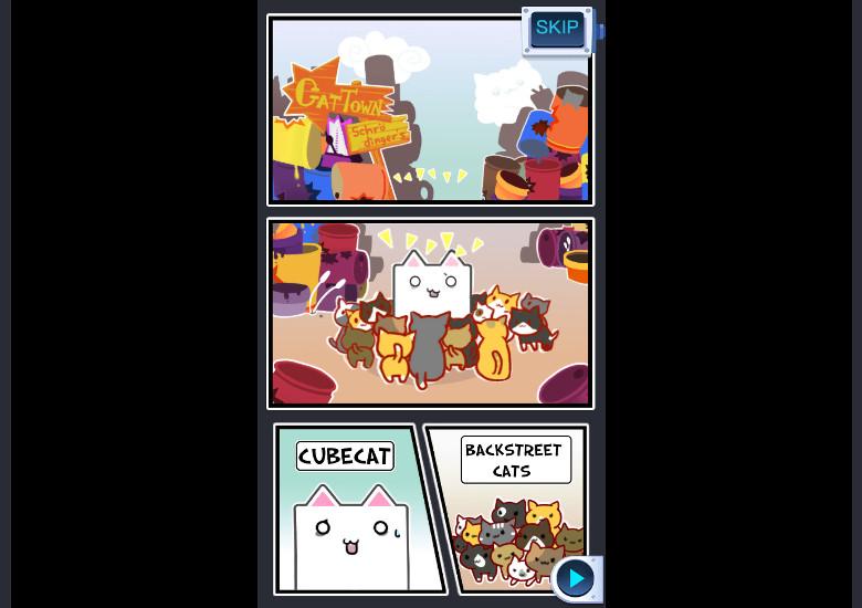 Cube Cat オープニングコミック