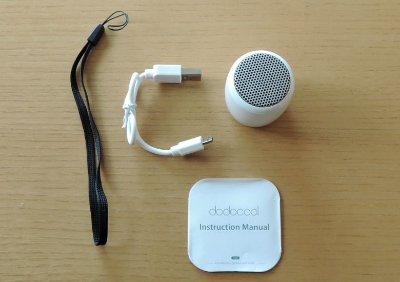 dodocool Bluetooth ミニスピーカー 同梱物