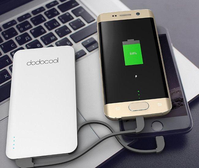 dodocool 極薄 5000mAh モバイルバッテリー 2台同時充電