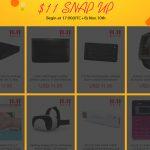 セール情報 - geekbuyingのシングルデー・セール、「$11 Snap Up」が開催されるよ!