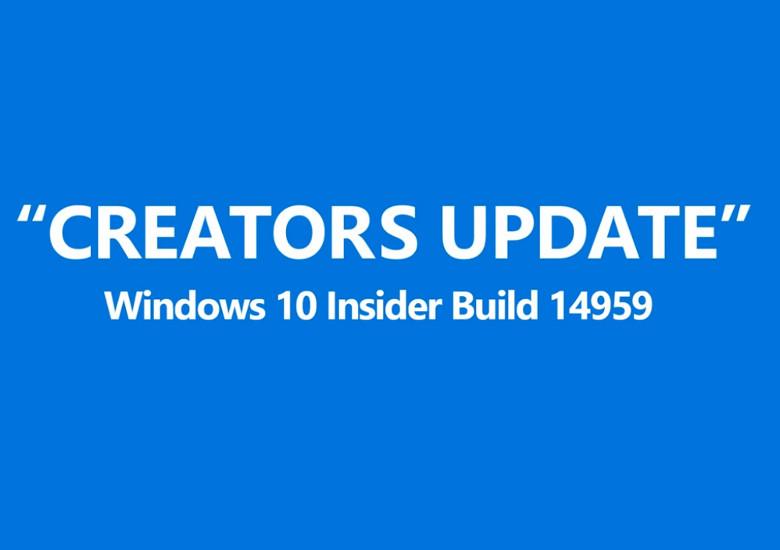 Windows 10 Creators Update Build 14959