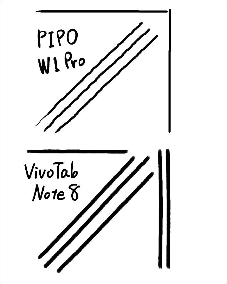 PIPO W1 Pro ペン比較