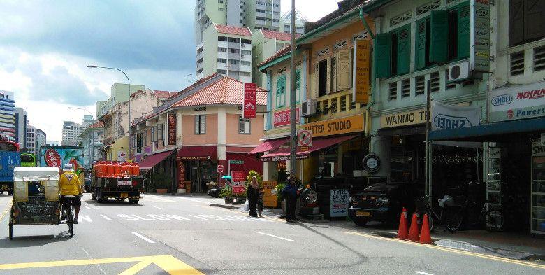 シンガポールの町並み