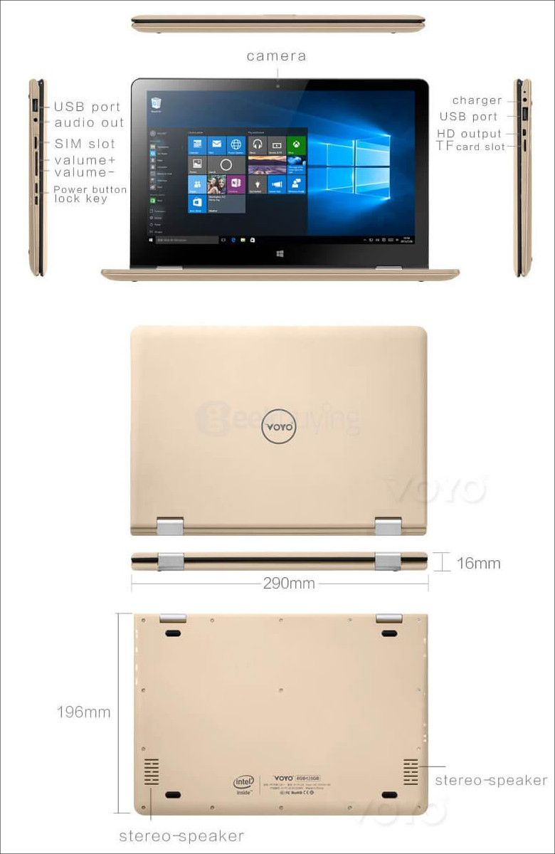 VOYO VBook A1 展開図