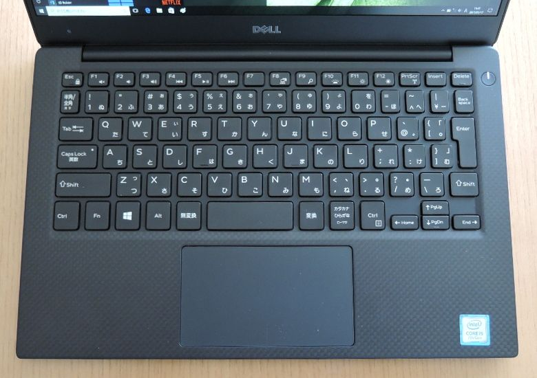 DELL XPS 13 キーボード