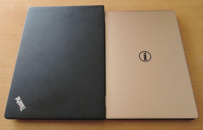 DELL XPS 13 ThinkPad 13と比較、筺体サイズ