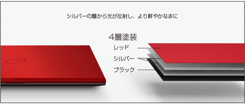 富士通 LIFEBOOK WU2/B1 サテンレッド