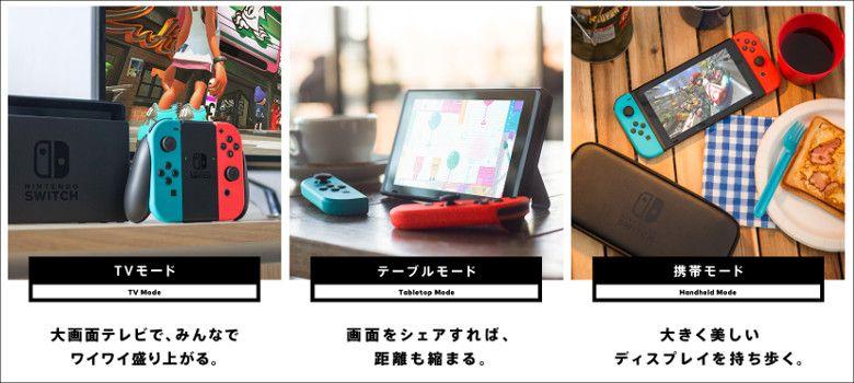 Nintendo Switch 3つのスタイル