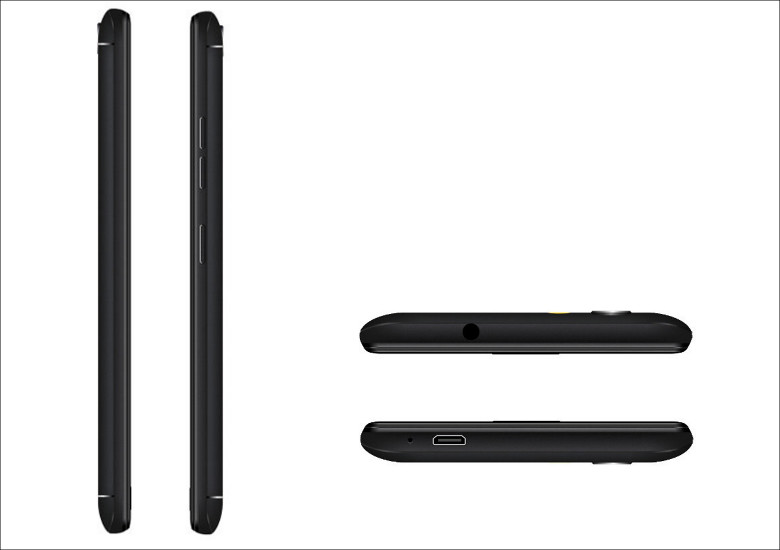Ulefone U008 Pro 上下面と側面