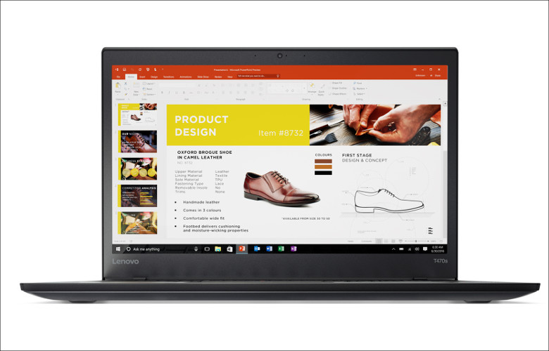 Lenovo ThinkPad T470s 正面