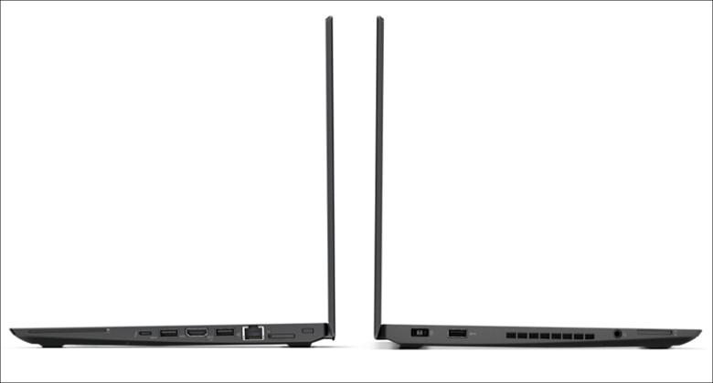 Lenovo ThinkPad T470s 側面