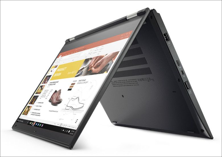 Lenovo ThinkPad Yoga 370 テントモード
