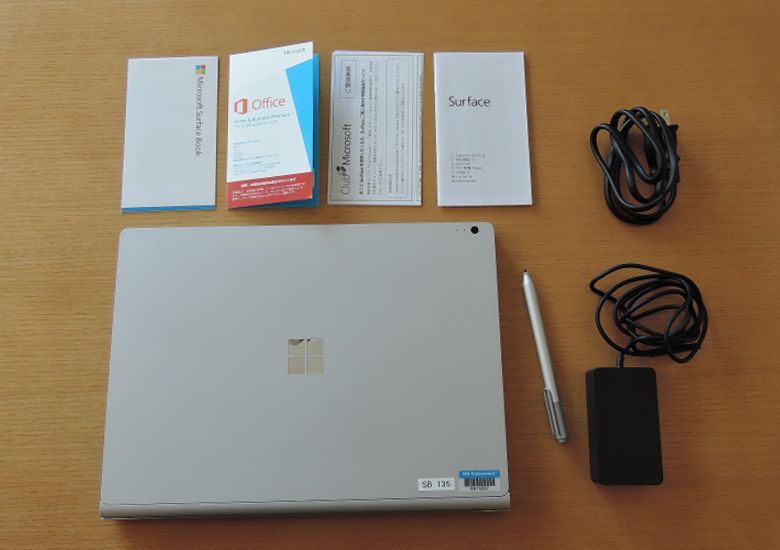 Microsoft SurfaceBook 同梱物