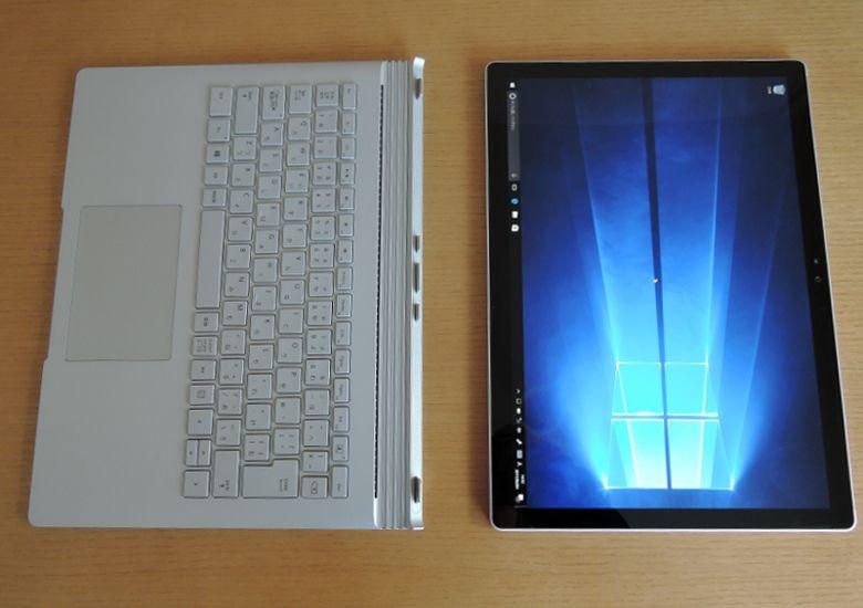 Microsoft SurfaceBook 分離
