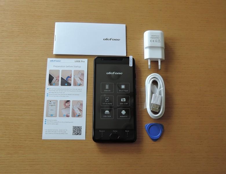 Ulefone U008 Pro 付属品一式