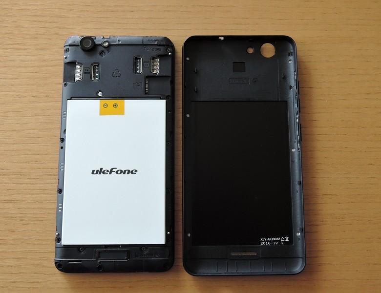 Ulefone U008 Pro バックカバー開封