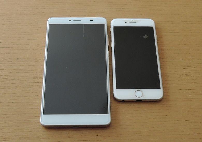 DOOGEE Y6 Max iPhone6と