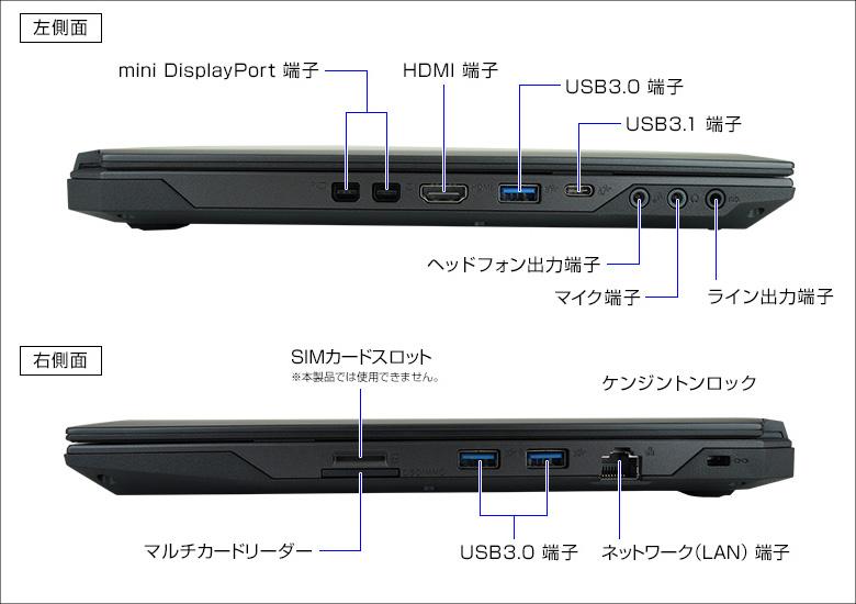 マウス DAIV-NG4500 側面