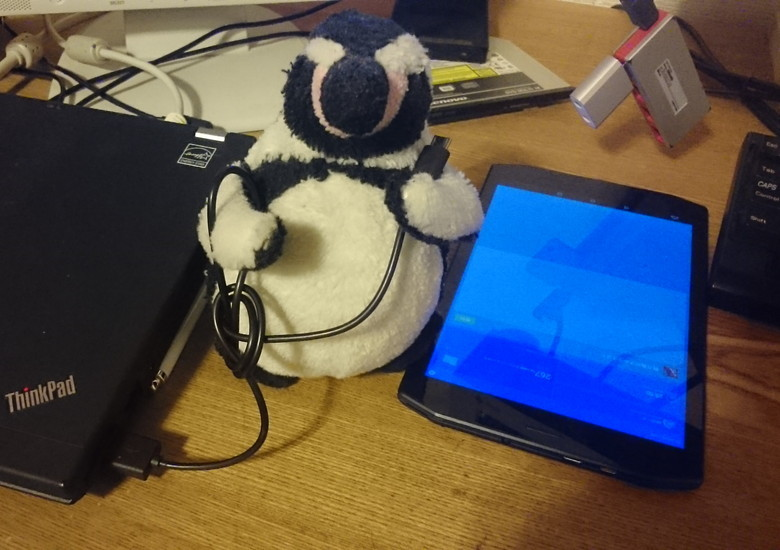 PCからAndroid端末へのデータ転送
