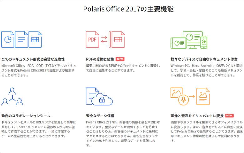 Polaris Office 主要機能