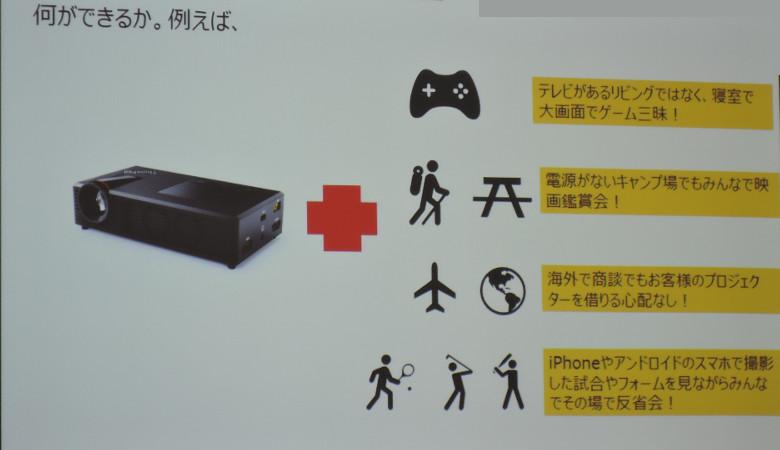 ThinkPad Stack モバイルプロジェクター 用途