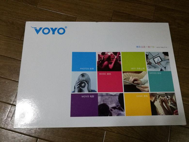 VOYO VBook V3 読者レビュー 本体外箱