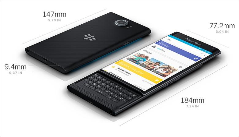 BlackBerry Priv サイズ感