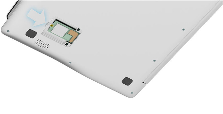 Chuwi LapBook 12.3 SSD増設