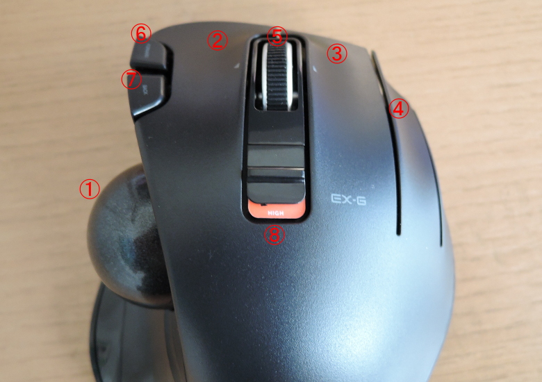 ELECOM M-XT3DRBK ボタン類