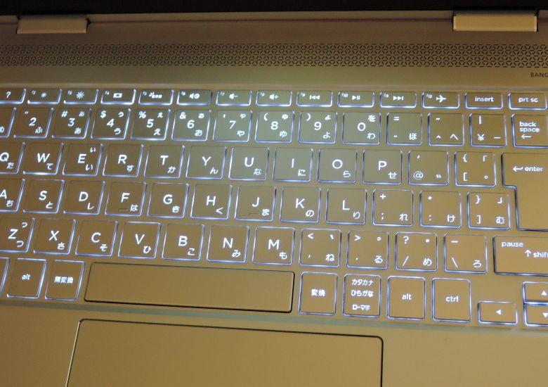 HP Spectre x360 バックライト