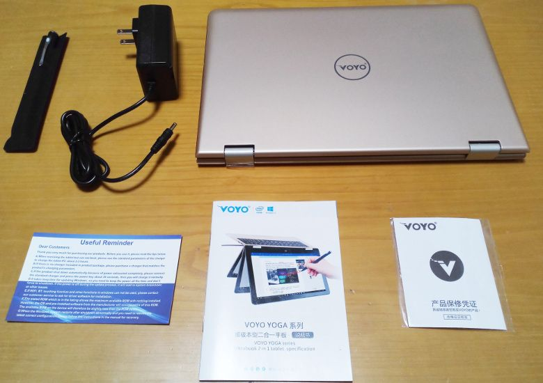 VOYO VBook A1 同梱物