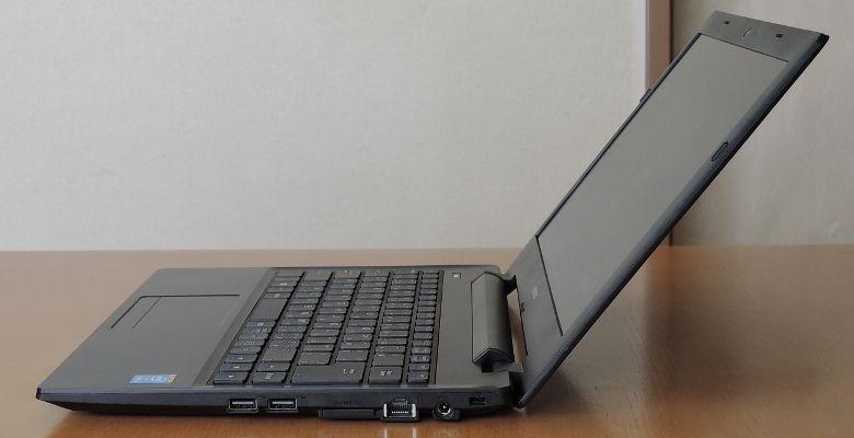 マウス LuvBook J ヒンジ最大開口